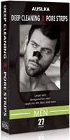 AUSLKA Blackhead Remover Strips for Men Deep Pore Cleansing Charcoal Peel Off Mask