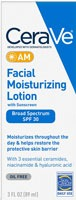 CeraVe AM Facial Moisturizing Lotion SPF 30 Oil Free Face Moisturizer for summer