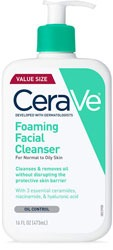 CeraVe Foaming Facial Cleanser Makeup Remover for Oily Skin