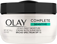 Face Moisturizer by Olay Complete All Day Moisture Face Cream with Sunscreen SPF 15 Sensitive Skin