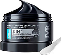 JVR Purifying Deep Cleansing Blackhead Remover Charcoal Peel Off Mask for Men