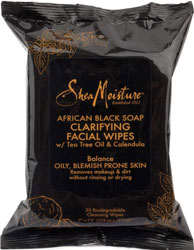 SheaMoisture Clarifying Facial Wipes Makeup Remover for Oily Blemish Prone Skin