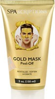 SpaScriptions Mens Peel Off Gold Mask Pulls Away Blackheads Whiteheads Dead Skin Cells